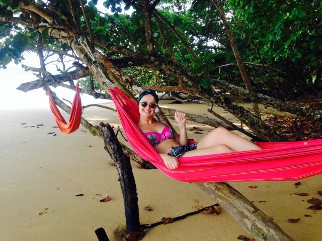 Chilling at Playa Bluff