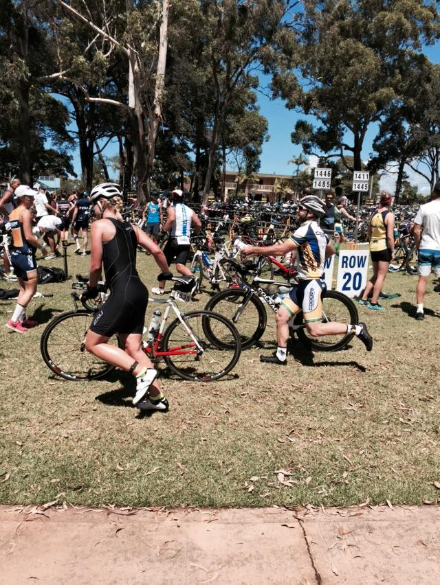 Coxy and I side by side into transition!
