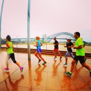 Nike run club in the rain!