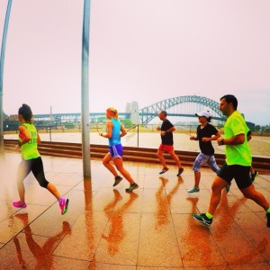 Nike run club in the rain!