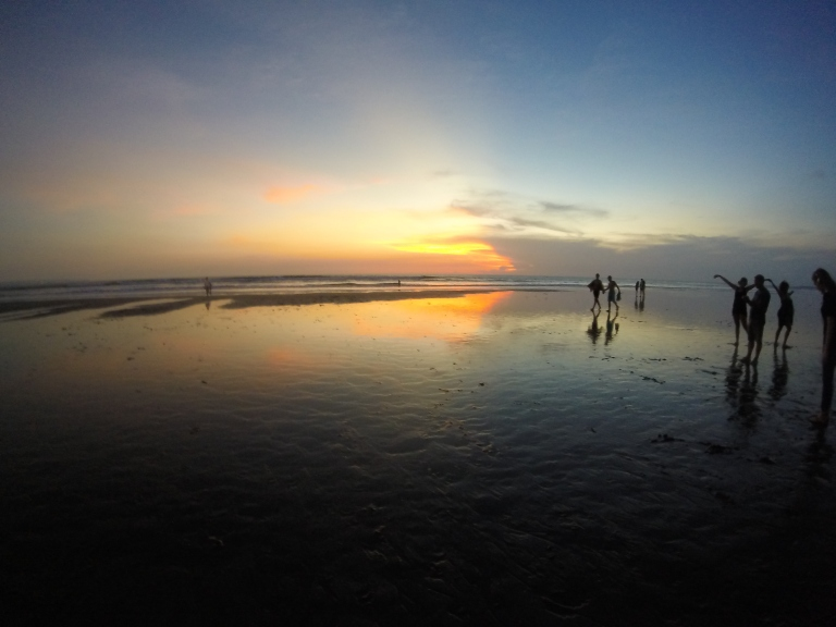 Seminyak beach at sunset