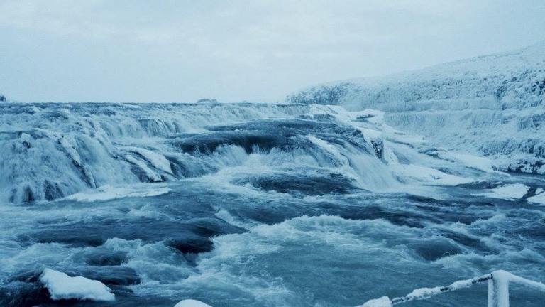Gullfoss in winter. Totally frozen over! Photo credit @rachey_jt