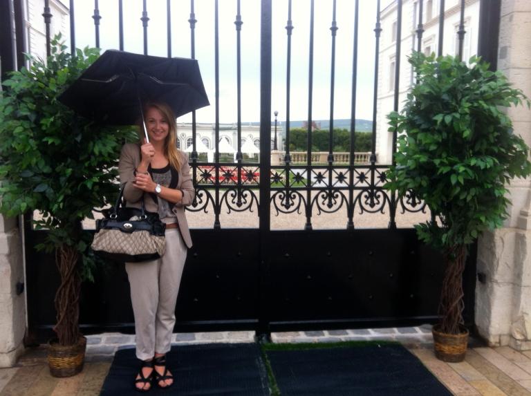 Rain and champagne!