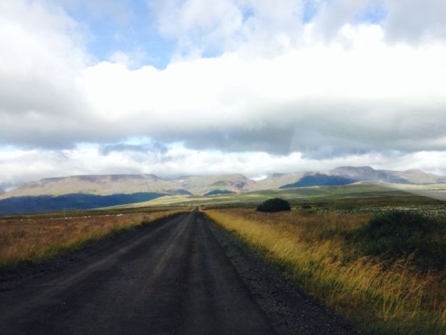 Standard Icelandic gravel road