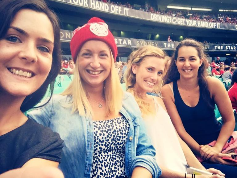 Gals at the 'footie'