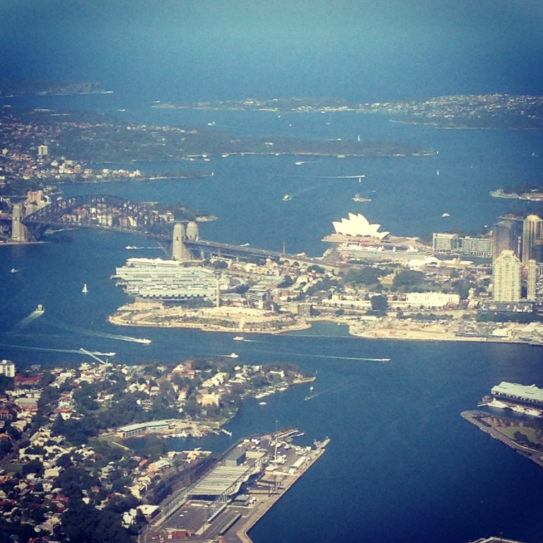 My first view of Sydney. Wheels down Jan 15th 2015