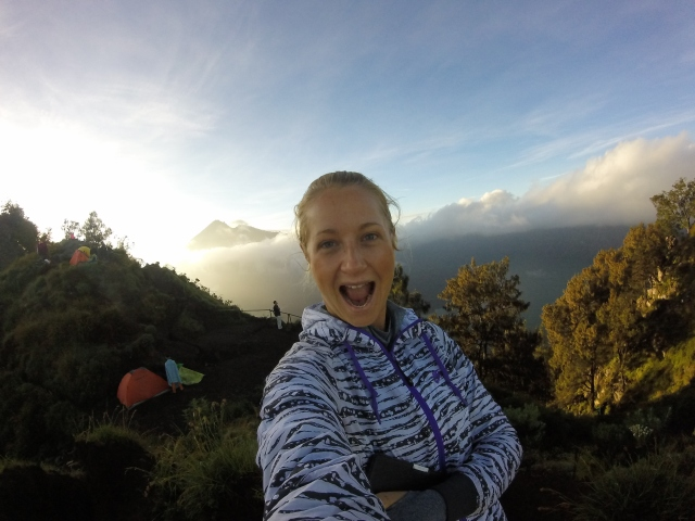 Waking up on a volcano = EXCITING!!!
