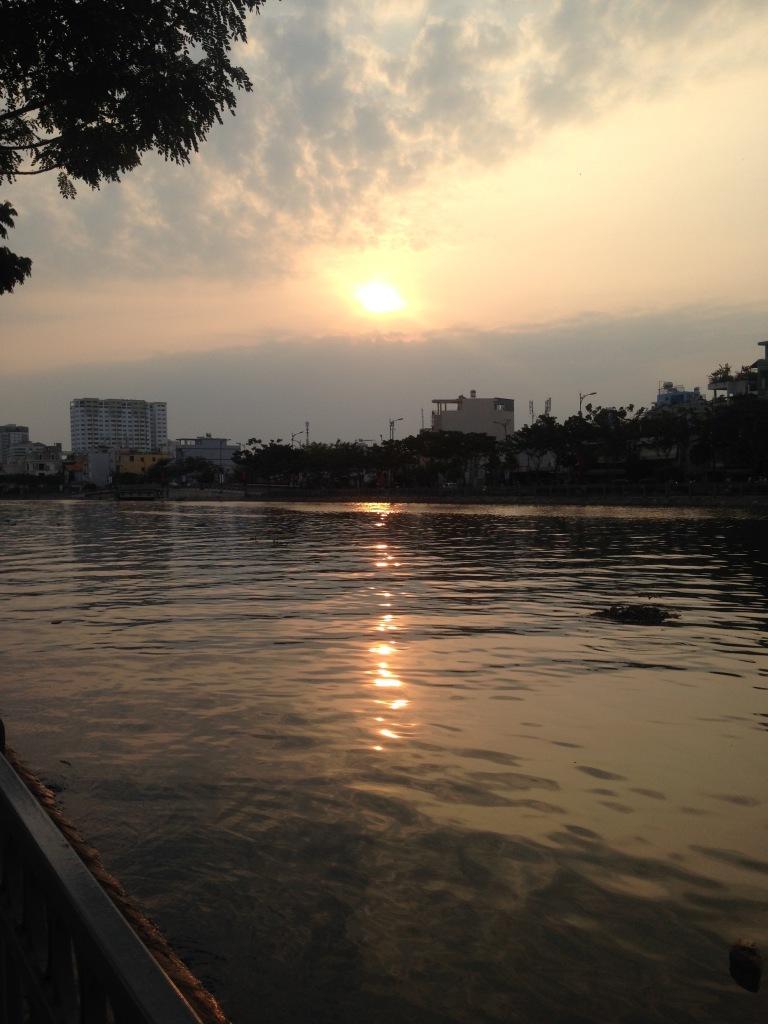 Sunrise over the Saigon River