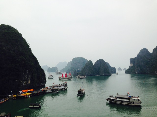 Rush hour in Ha Long bay!
