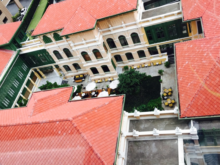 Afternoon tea courtyard at the house on Sathorn