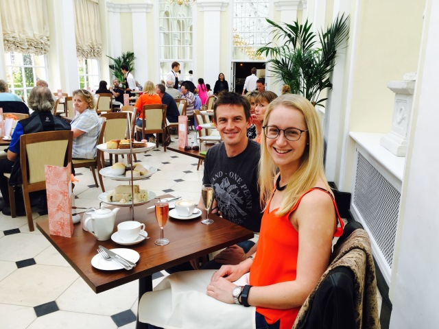 3rd afternoon tea of the trip in the Orangery
