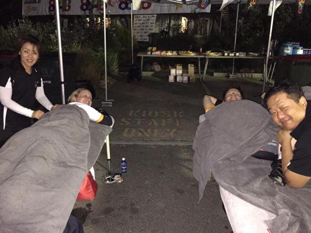 Mid-ride massage at base camp