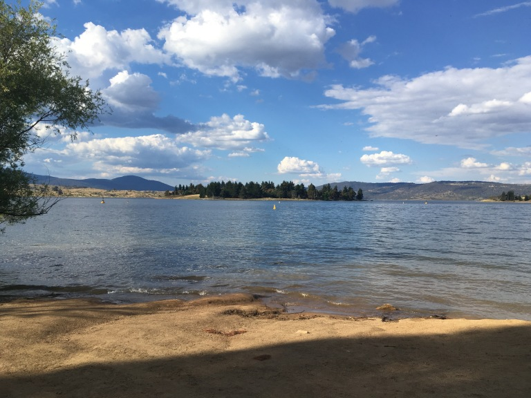 Lake Jindabyne on a better day!