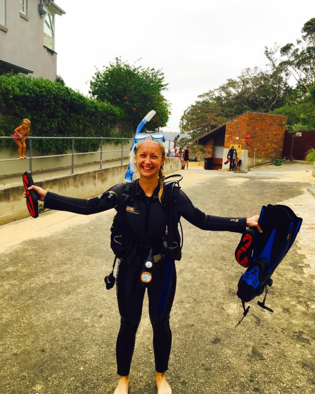 Feeling of success after the final dive!